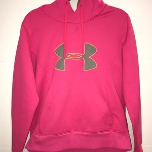 Under Amour Pink Logo Pull Over